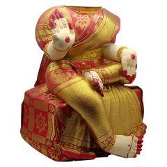 Ammavari Idol (Red Colour with Kaddi Border) (12 Inchs)