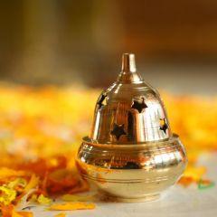 Apple Diya (Brass) (Small)