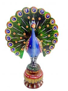 wooden peacock