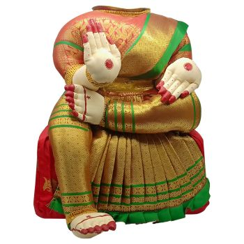 Ammavari Idol (Red Colour with Green Border) (12 Inchs)
