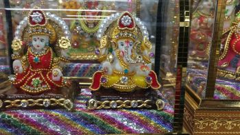 Cab God - laxmi and ganesha