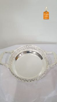Pooja Plate German Silver